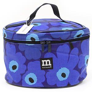 marimekko(マリメッコ) MINI-UNIKKO KINTO HIPAUS ミニウニッコ柄 コスメティックポーチ バニティバッグ ブルー×ダークブルー 26342 501 blue/darkblue - 拡大画像