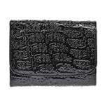 FOLLI FOLLIE(フォリフォリ) ロゴマニア ロゴ型押し 小銭入れ付 二つ折り財布 ブラック WA0L026SK BLK