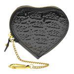 FOLLI FOLLIE(フォリフォリ) ロゴマニア ロゴ型押し コインケース 小銭入れ ブラック WA0L035SK BLK