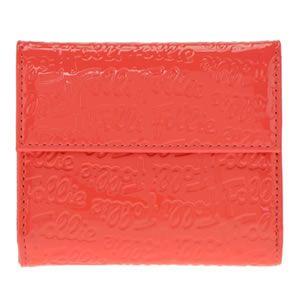 FOLLI FOLLIE(フォリフォリ) ロゴマニア ロゴ型押し 小銭入れ・パスケース付 三つ折財布 ピンク WA0L027SP PNK - 拡大画像