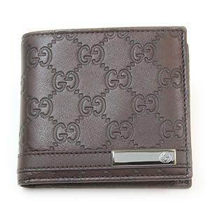Gucci(グッチ) グッチシマ GGロゴメタルバー 二つ折り財布 小銭入れ付 チョコレート 233102 AA61R 2019 - 拡大画像