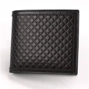 Gucci(グッチ) ディアマンテレザー 小銭入れ付 二つ折り財布 ブラック 237359 AF41N 1000 - 拡大画像