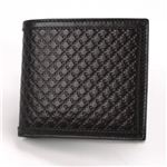 Gucci(グッチ) ディアマンテレザー 小銭入れ付 二つ折り財布 ブラック 237359 AF41N 1000