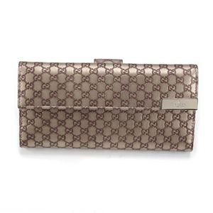 Gucci(グッチ) マイクログッチシマ DICE Wホック 二つ折り長財布 シャンパンゴールド 257012 AW12G 9504 - 拡大画像