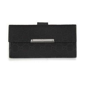 Gucci(グッチ) オリジナルGG METAL BAR メタルバー Wホック 二つ折り財布 ブラック 112715 F40IR 1000 - 拡大画像