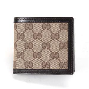 Gucci(グッチ) オリジナルGG メンズ 小銭入れ付 二つ折り財布 ベージュ/エボニー 237359 F4C7R 9643 - 拡大画像