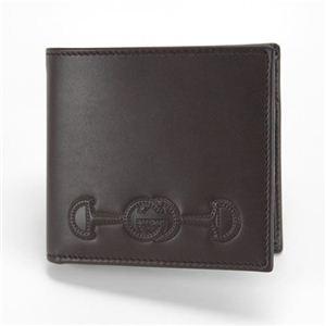Gucci(グッチ) DRESSAGE カーフ Gホースビット メンズ 小銭入れ付 二つ折り財布 ブラウン 295597 BGH0N 2140 - 拡大画像