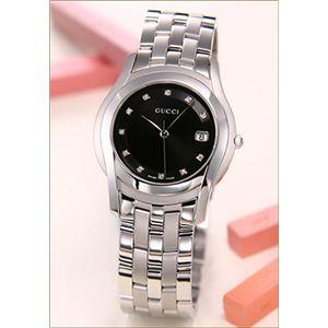 Gucci(グッチ) 腕時計 レディースリストウォッチ GQ 5505 SS BK/11P S YA055504 - 拡大画像