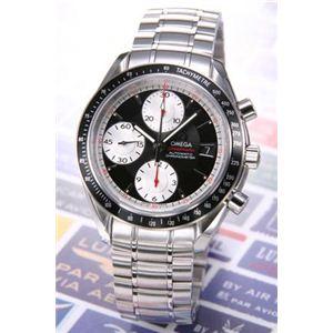 OMEGA(オメガ) 腕時計 スピードマスターデイト ブラック/シルバースモセコ 3210-51 - 拡大画像