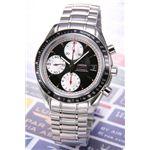 OMEGA(オメガ) 腕時計 スピードマスターデイト ブラック/シルバースモセコ 3210-51