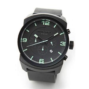 DIESEL(ディーゼル) メンズ 腕時計 Analog(アナログ) 注目のオールブラック・クロノグラフ ラバーストラップ・ウオッチ DZ4192 - 拡大画像