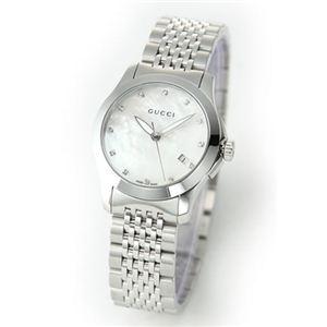 Gucci(グッチ) レディス 腕時計 クラシック・コレクション 12Pダイヤ レディス・12Pダイヤ・ブレスウオッチ YA126504 - 拡大画像