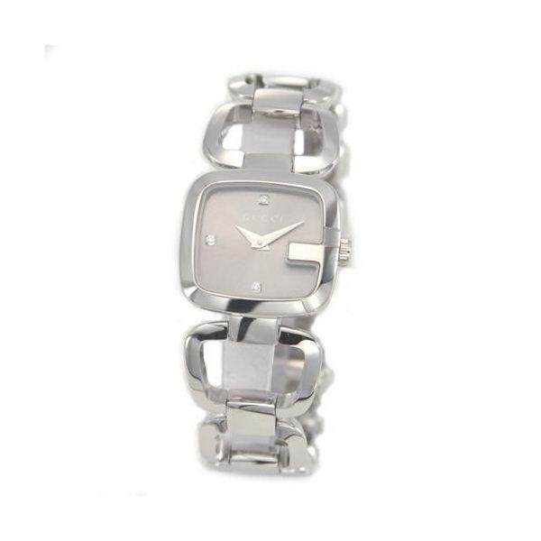 男前 時計 通販|  Gucci(グッチ) G-GUCCI コレクション Gのイニシャルがモチーフ。インデックスにシェルとダイヤをあしらったラグジュアリーなレディス・ブレスウオッチ 【腕時計】 YA125503