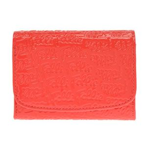 FOLLI FOLLIE(フォリフォリ) ロゴマニア ロゴ型押し 小銭入れ付 二つ折り財布 ピンク WA0L026SP PNK - 拡大画像