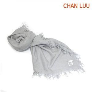 CHAN LUU(チャンルー) カシミア&シルクスカーフ マフラー 大判ストール マフラー グレイサーグレー ライトグレー系 BRH-SC-140/Glacier Gray - 拡大画像