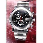 Gucci(グッチ) 腕時計 「G-クロノ」 SS/ブラック YA101309