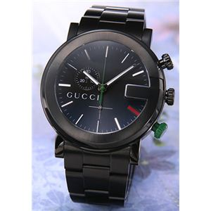 Gucci(グッチ) 腕時計 「G-クロノ」ブラックPVD ブラック YA101331 - 拡大画像