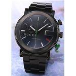 Gucci(グッチ) 腕時計 「G-クロノ」ブラックPVD ブラック YA101331