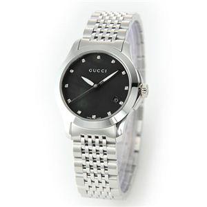 Gucci(グッチ) レディス 腕時計 クラシック・コレクション 12Pダイヤ レディス・12Pダイヤ・ブレスウオッチ YA126505 - 拡大画像