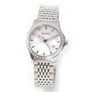 Gucci(グッチ) レディス 腕時計 クラシック・コレクション ラグジュアリーなダイヤ・ベゼル シェル文字盤の輝き YA126506 - 拡大画像