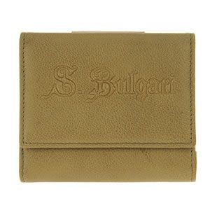 Bvlgari(ブルガリ) S.BULGARI Wホック 小銭入れ付 二つ折り財布 カーキブラウン 33845 CALF/BRW - 拡大画像