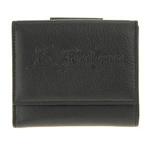 Bvlgari(ブルガリ) S.BULGARI Wホック 小銭入れ付 二つ折り財布 ブラック 33846 CALF/BLK - 拡大画像