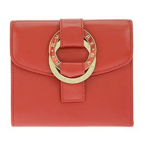 Bvlgari(ブルガリ) 三つ折り財布 カーフレザー レッド 33901 CALF/RED - 拡大画像
