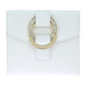 Bvlgari(ブルガリ) 三つ折り財布 カーフレザー ホワイト 34457 CALF/WHT - 拡大画像