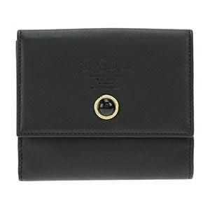 Bvlgari(ブルガリ) S.BULGARI ロゴ型押し Wホック 小銭入れ付 二つ折り財布 カーフレザー ブラック 34609 CALF/BLK - 拡大画像