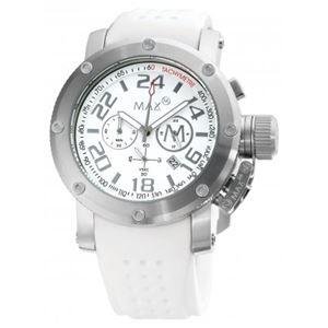 MAX(マックス) 腕時計 MAX468 42mm Face シルバー ホワイト クロノグラフ ウォッチ 国内正規商品 - 拡大画像