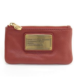 MARC BY MARC JACOBS(マークバイマークジェイコブス) Classic Q Core Key Pouch キーリング付 コインケース マルチポーチ レッド系 ≪2013AW≫ M0001283 81506 BRIGHT PERSIMMONの画像