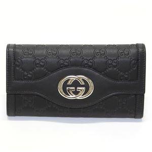 Gucci(グッチ) SUKEY スーキー グッチシマ 二つ折り長財布 ブラック ≪2013AW≫ 282434 AA61G 1000 - 拡大画像