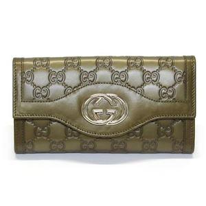 Gucci(グッチ) SUKEY スーキー グッチシマ 二つ折り長財布 オリーブグリーン ≪2013AW≫ 282434 AHB1G 2402 - 拡大画像