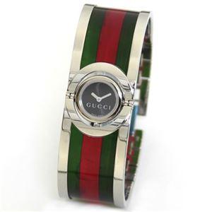 Gucci(グッチ) トワール コレクション シンボリックなGRGカラーリングのバングルブレス・ウオッチ YA112517 - 拡大画像