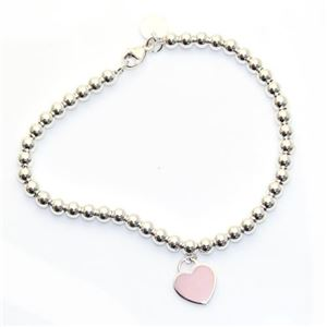 Tiffany(ティファニー) RTT ビーズブレスレット ピンク エナメル フィニッシュ 7in 30978811