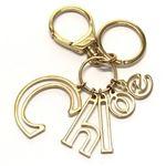 Chloe(クロエ) LETTERS Key rings ロゴデザイン キーリング キーホルダー ゴールド 3K0250 DA9 91 GOLD