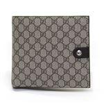Gucci(グッチ) GGスプリームキャンバス 小銭入れ付 二つ折り財布 ベージュ×ブラウン 282023 FX53N 9643