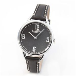 【レディス腕時計】Coach(コーチ) ダイヤルとベルトの、お揃いのステッチレザーが可愛いレディスウオッチ 14501640