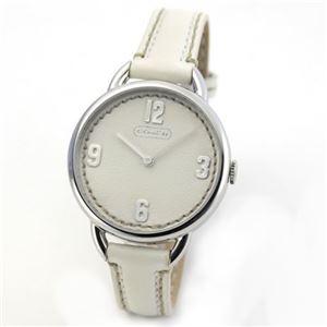 【レディス腕時計】Coach(コーチ) ダイヤルとベルトの、お揃いのステッチレザーが可愛いレディスウオッチ 14501806