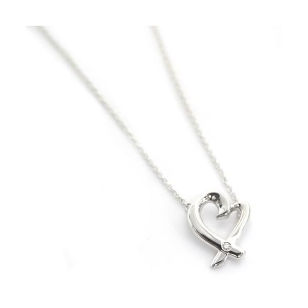 Tiffany(ティファニー) パロマ・ピカソ ラビングハート ペンダント・ネックレス スモール 1Pダイヤ 16in 25604296f00