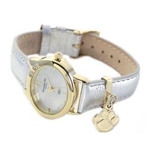 ALESSANDRA OLLA(アレサンドラオーラ) 超人気 可愛い肉球チャームが揺れる♪ネコモチーフ腕時計 イエローゴールド&シルバー AO-333 YG-SV