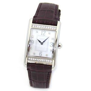 【レディス腕時計】Coach(コーチ) ミドルサイズで見やすい大きさ。ラインストーンを纏ったラグジュアリーなレディス・レザーストラップ・ウオッチ 14501718