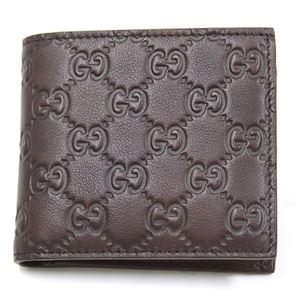 Gucci(グッチ) グッチシマ 二つ折り財布 小銭入れ付 チョコレート 146223 A0V1R 2019 - 拡大画像