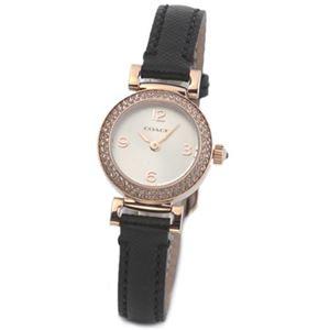 【レディス腕時計】Coach(コーチ) 小ぶりなラウンドフェイスにラインストーンを着飾ったキレカワ・レディス・ウオッチ 14501971