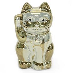 Baccarat(バカラ) LUCKY CAT 表情が可愛い☆日本生まれのラッキーモチーフ☆「招き猫」(ゴールド) 2612997 - 拡大画像
