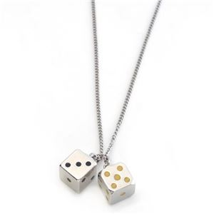 MARC BY MARC JACOBS(マークバイマークジェイコブス) dicey pendant ダイス サイコロモチーフ ペンダント ネックレス M0004217-041 ARGENT h01
