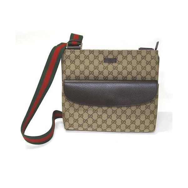 Gucci(グッチ) オリジナルGG ウェブ ショルダーバッグ クロスボディ ベージュ/ブラウン ≪2014AW≫ 256100 F4F3R 9791f00