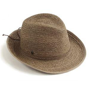 Helen Kaminski(ヘレンカミンスキー) カミンスキーXY Mati/Husk/Nougat/M ≪2015SS≫マティ UPF50+ フェドーラハット ヘリンボーンエッジ ラフィア製 メンズ中折れ帽子 Mサイズ