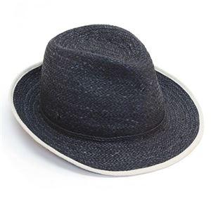 Helen Kaminski(ヘレンカミンスキー) カミンスキーXY Mati/Ocean/Natural/M ≪2015SS≫マティ UPF50+ フェドーラハット ヘリンボーンエッジ ラフィア製 メンズ中折れ帽子 Mサイズ