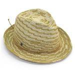Helen Kaminski(ヘレンカミンスキー) カミンスキーXY Sanele/Natural/Turmeric/M ≪2015SS≫サネール フェドーラハット 丸めて収納可能なラフィア製ローラブルハット メンズ中折れ帽子 Mサイズ